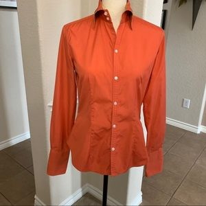 Ralph Lauren Orange fitted button down shirt